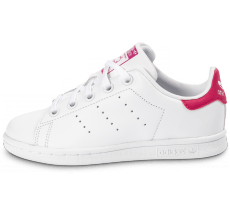 Chaussures adidas Stan Smith Enfant blanche et rose