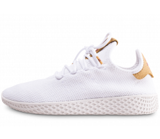 Chaussures adidas Pharrell Williams Tennis Hu blanc et beige femme