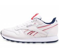 Chaussures Reebok Classic Leather blanc cassé rouge