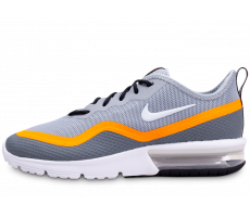 Chaussures Nike Air Max Sequent 4.5 grise et orange