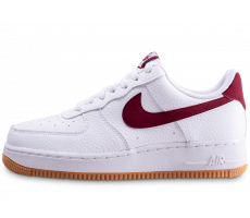 Chaussures Nike Air Force 1 '07 blanche et rouge