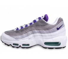 Chaussures Nike Air Max 95 Blanche Grise Violette et Verte