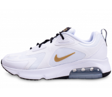 Chaussures Nike Air Max 200 blanc or