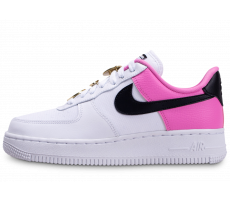 Chaussures Nike Air Force 1'07 blanc rose femme