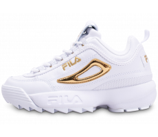 Chaussures Fila Disruptor blanc or