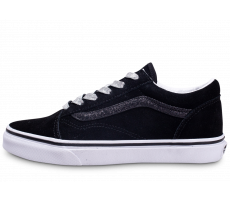 Chaussures Vans Old Skool Low Noir Argenté junior