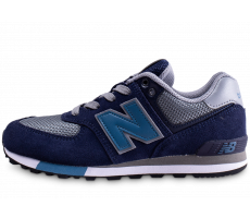 Chaussures New Balance GC574FND bleue et grise junior