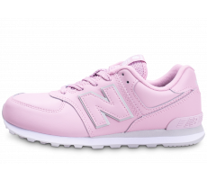 Chaussures New Balance 574 Rose et Blanche