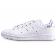 Chaussures adidas Stan Smith blanche diamant junior