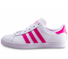 Chaussures adidas Coast Star blanc et rose junior