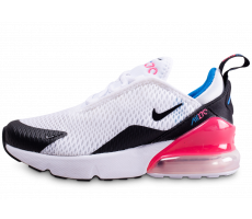 Chaussures Nike Air Max 270 blanche et rose enfant
