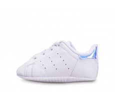 Chaussures adidas Stan Smith blanche diamant Crib