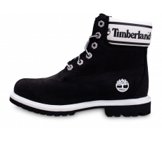 Chaussures Timberland 6-Inch Logo Collar Boots noires femme
