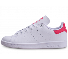 Chaussures adidas Stan Smith blanche et rose junior