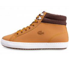 Chaussures Lacoste Straightset Thermo marron et blanche
