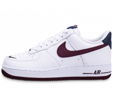 Chaussures Nike Air Force 1'07 blanc marron bleu