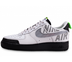 Chaussures Nike Air Force 1 Under Construction noir blanc gris