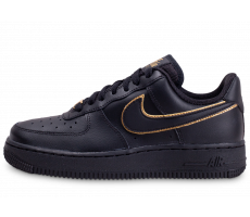Chaussures Nike Air Force 1'07 Essential noire et or femme