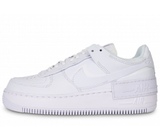 Chaussures Nike Air Force 1 Shadow triple blanc femme