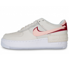 Chaussures Nike Air Force 1 Shadow Phantom rose et rouge femme
