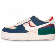 Chaussures Nike Air Force 1 Shadow rose bleue verte femme