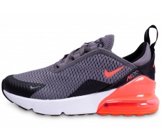 Chaussures Nike Air Max 270 grise et orange sanguine enfant