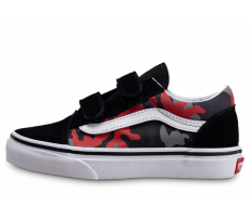 Chaussures Vans Old Skool Camo Racing Red enfant