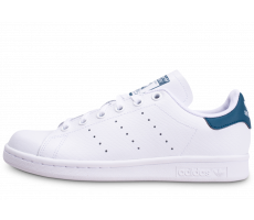 Chaussures adidas Stan Smith blanche et bleue junior