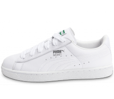 purchase cheap 4ea7f 80870 Chaussures Puma Basket Classic blanc et argent