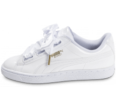 Chaussures Puma Basket Heart Patent  blanche