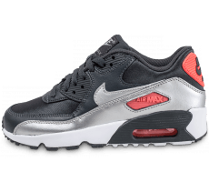 low priced f70a9 305a9 Chaussures Nike Air Max 90 Junior argentée