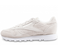 Chaussures Reebok Classic Leather Woven EMB blanc cassé