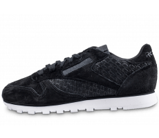 Chaussures Reebok Classic Leather Woven EMB noire