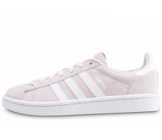 Chaussures adidas Campus rose clair et blanche