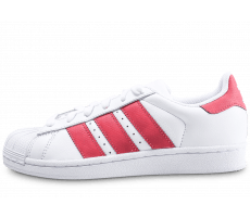 Chaussures adidas Superstar Iridescent junior blanche et rose