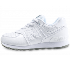 Chaussures New Balance 574 blanches enfant mlzw1I