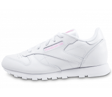 Chaussures Reebok Classic Leather Metallic enfant blanche