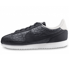 Chaussures Nike Cortez Basic Leather junior noire crocodile