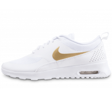 Chaussures Nike Air Max Thea blanche et or
