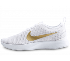 Chaussures Nike Dualtone Racer blanche et or