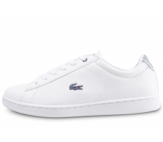Chaussures Lacoste Carnaby Evo junior blanche et bleu
