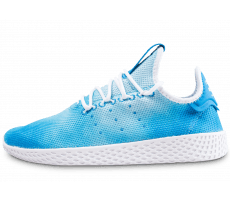 Chaussures adidas Pharrell Williams Tennis Hu junior bleu et blanche