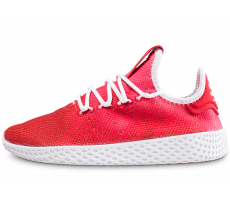 Chaussures adidas Pharrell Williams Tennis Hu junior rouge et blanche