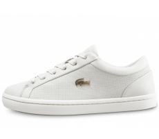 Chaussures Lacoste Straightstet blanc cassé