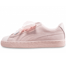 Chaussures Puma Suede Heart Bubble rose