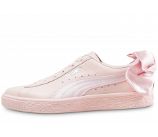 Chaussures Puma Basket Bow rose