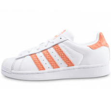 Chaussures adidas Superstar blanche et orange