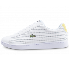 Chaussures Lacoste Carnaby Evo blanche et jaune