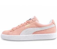 Chaussures Puma Suede Classic rose saumon