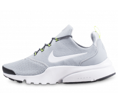Chaussures Nike Presto fly grise et blanche